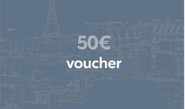 Bon-cadeau d'une valeur de 50€