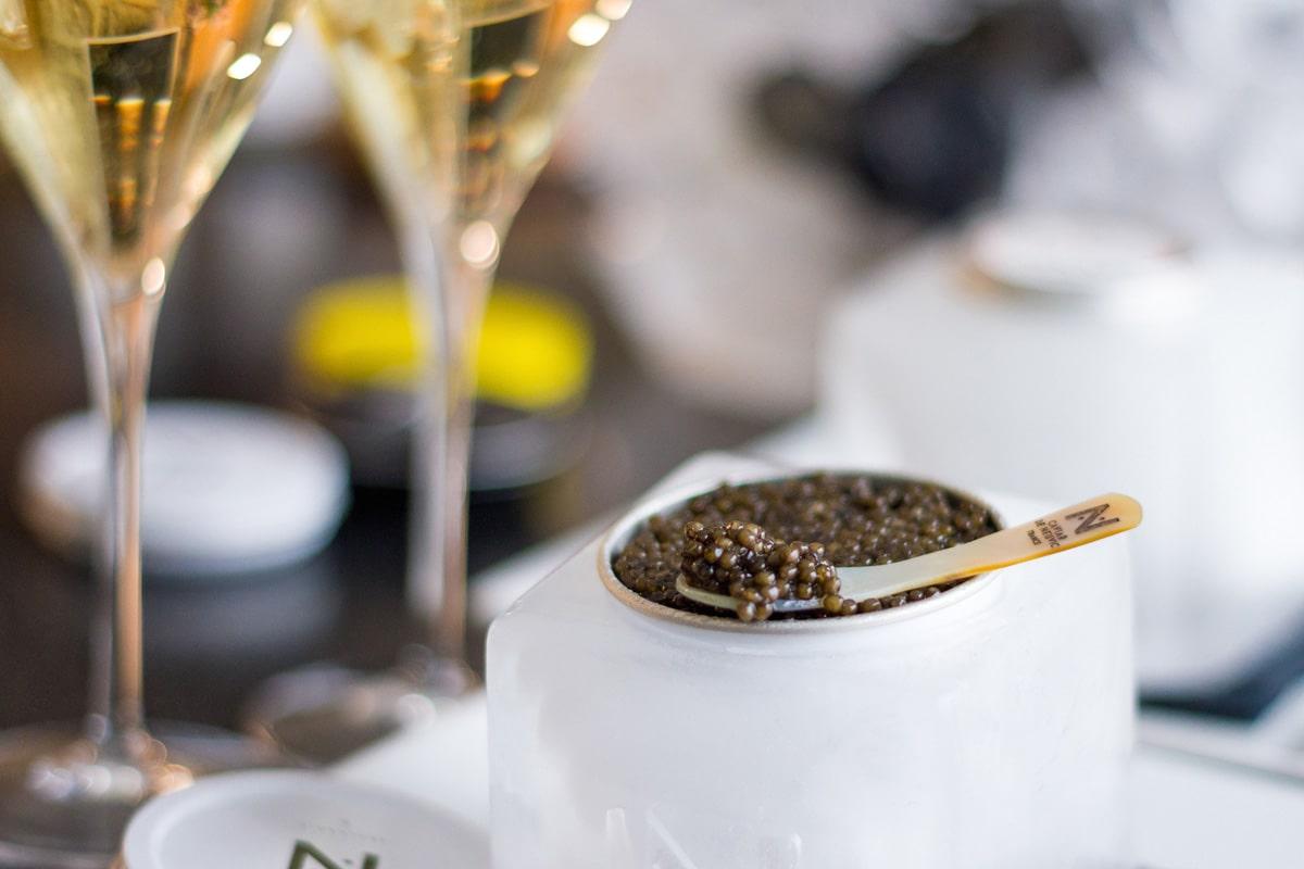 Dégustation caviar Paris Champagne