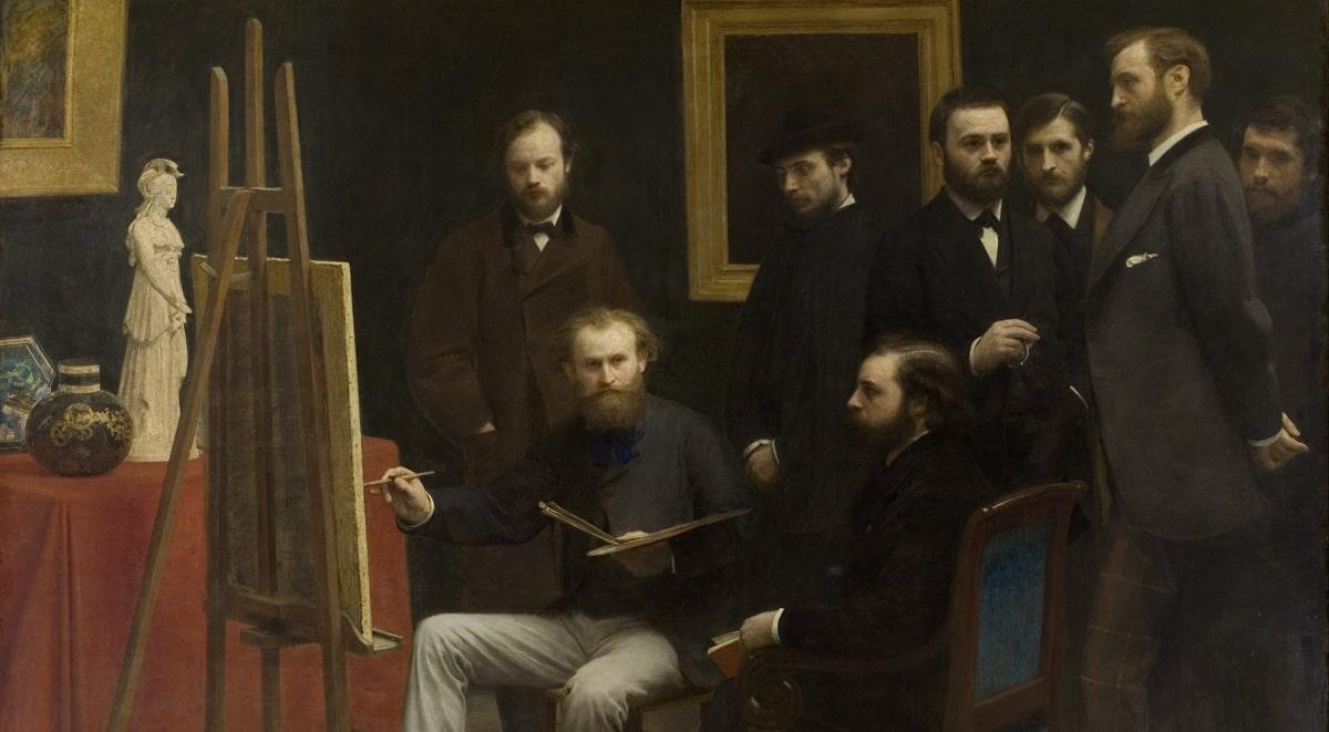 """Henri Fantin-Latour, """"Un atelier aux Batignolles"""""""
