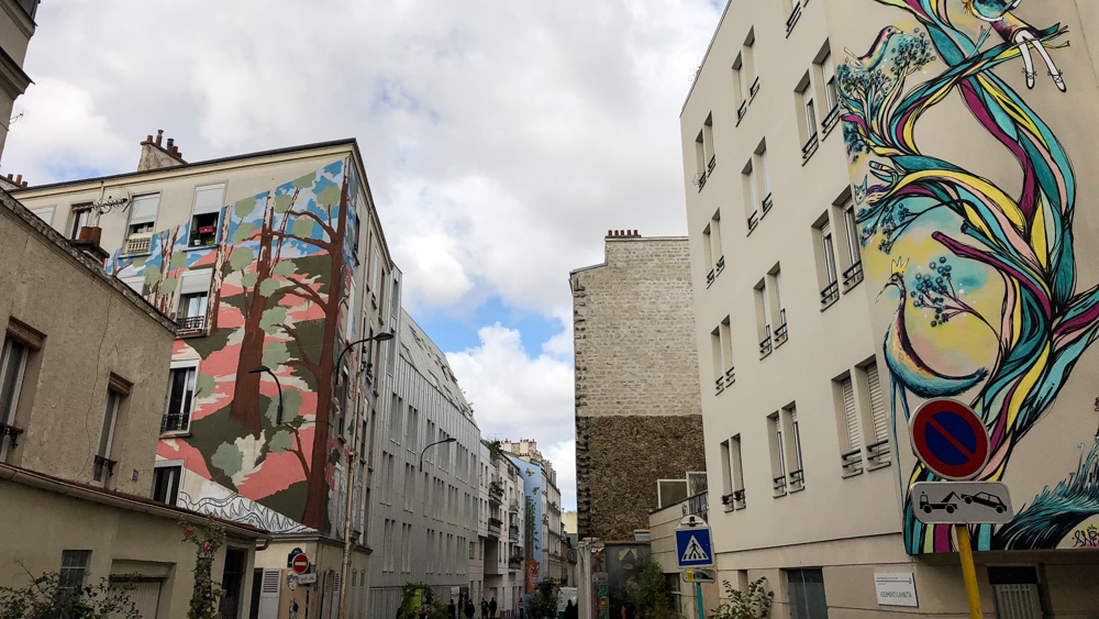 Rue du Retrait and some of its beautiful murals