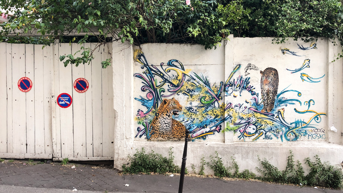 Graffiti by Mosko, rue Laurence Savart