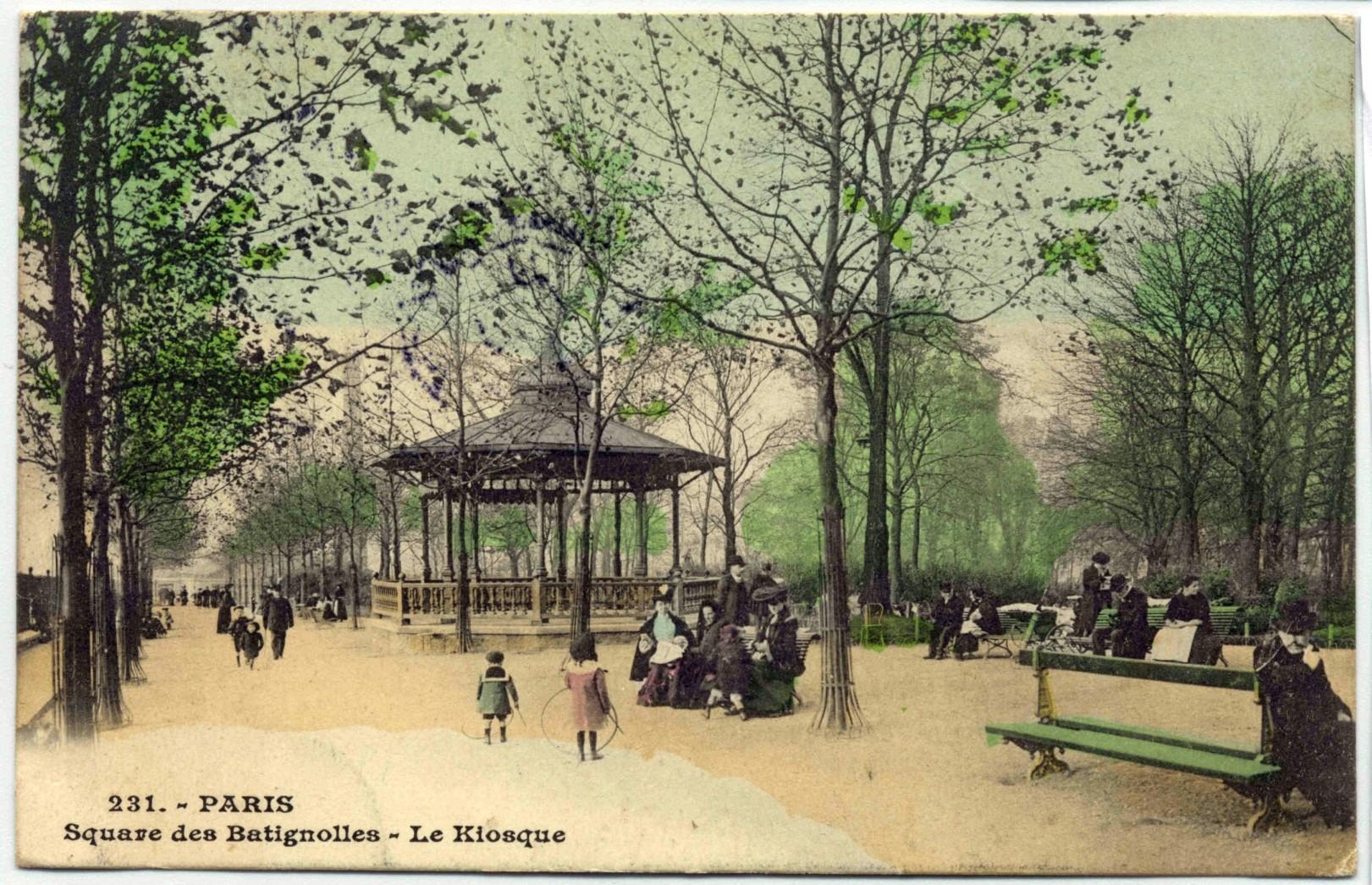 TheWaysBeyond - Batignolles / Kiosque du square des Batignolles, c. 1900 © Didier Favre